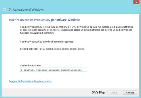 Metodo altern. per Windows 8 - Slui 3