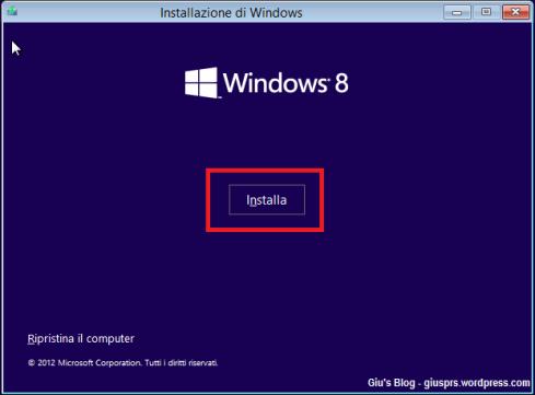 Windows 8 - Installazione