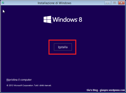 Windows 8 - Installazione